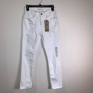 LEVI'S WHITE JEANS CLASSIC MID-RISE SKINNY SIZE 4